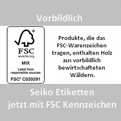 Seiko FSC Zertifizierung